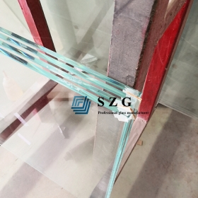 China 6mm low iron heat soak tempered glass, 6mm ultra clear heat soaked  toughened glass, 1/4 inch safety extra clear HST glass panel factory