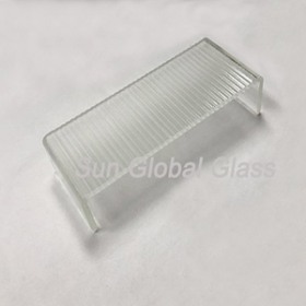 China 7mm clear thick ripples u-profile glass factory, U channel Glass glass sheets, economical U shape glass for building wall. factory