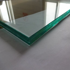 China 8.89mm half tempered SGP film laminated glass, bespoken laminated half tempered glass 8.89mm thickness DuPont sentry film interlayer, 4MM+4MM SGP half tempered laminated glass factory