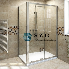 China 8mm clear toughened glass shower door, 8mm clear tempered glass bathroom door, 8mm transparent safety   tempered glass door factory
