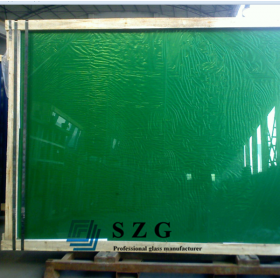 China 8mm dark green reflective glass, 8mm dark green hard coating reflective glass,8mm on-line coating. factory