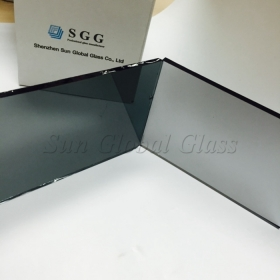China 8mm light grey reflective glass, solar control 8mm euro grey reflective glass, 8mm euro grey reflective float glass factory