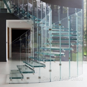 China 8mm toughened glass fence, 8mm tempered glass banister, 8mm safety glass baluster factory