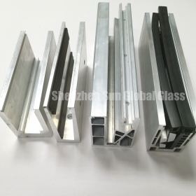 China Aluminium U channel for railing glass,U shape channel for fence glass,aluminium profile u channel for balustrade glass factory