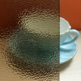 China Bronze nashiji patterned glass, temperable nashiji pattern glass, clear nashiji pattern glass factory