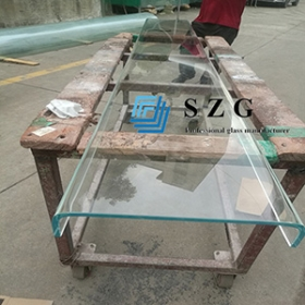 China Building material 7mm u-profile tempered glass use curtain wall, 7mm u-sharp tempered glass , U-channel glass for partitions. factory