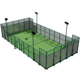 China CE standard complete padel tennis court glass price, full set portable paddle court tennis cost in China,Indoor and outdoor Padel Court construction systems for sale factory