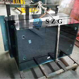 China Factory custom reflective tempered glass supplier,6mm blue reflective tempered glass, tinted reflective coating tempered glass in china. factory