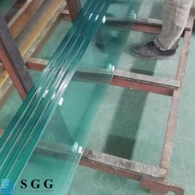 China SGP tempered laminated glass, 8+1.52+8mm SGP toughened laminated glass,8+1.52+8mm hurricane proof safety glass factory