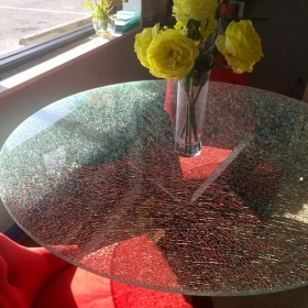 China broken glass table tops, shattered glass table tops, cracked glass table  tops, 8mm 10mm 12mm 15mm tempered glass table tops factory