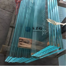 China four layers tempered laminated glass,12+12+12+12 toughened laminated glass,48mm tempered laminated glass for stair factory