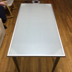 China frosted tempered glass table tops, acid etched glass table tops, frosted toughened glass table tops supplier factory