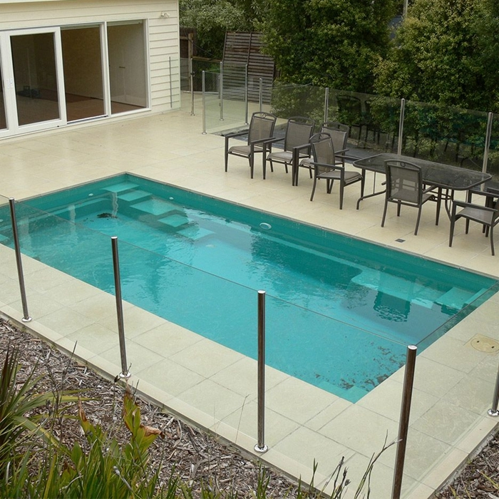 12mm pool glass railing,glass balustrade,glass pool fence ...