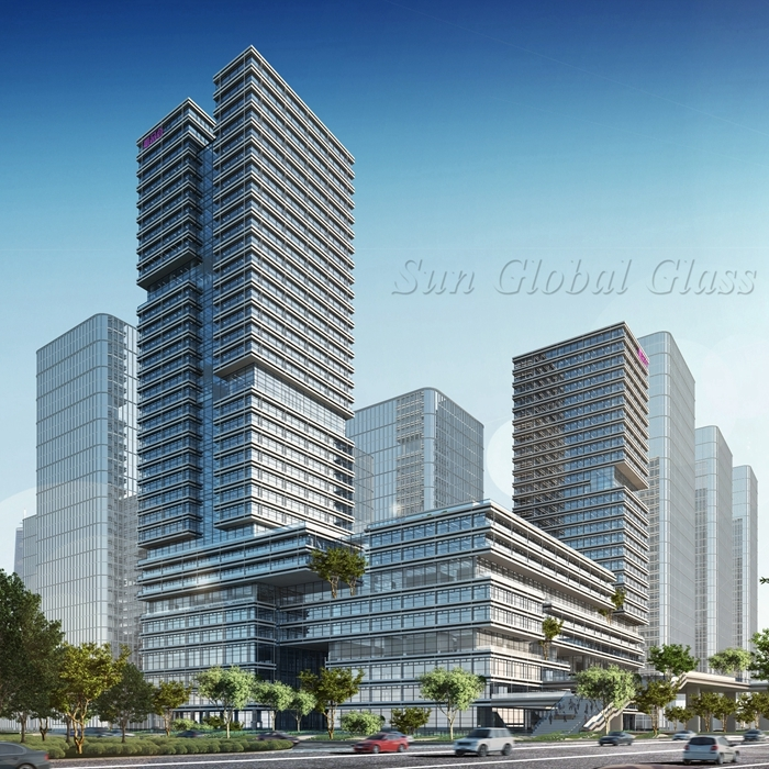 insulated glass curtain wall factory,insulated glass facade