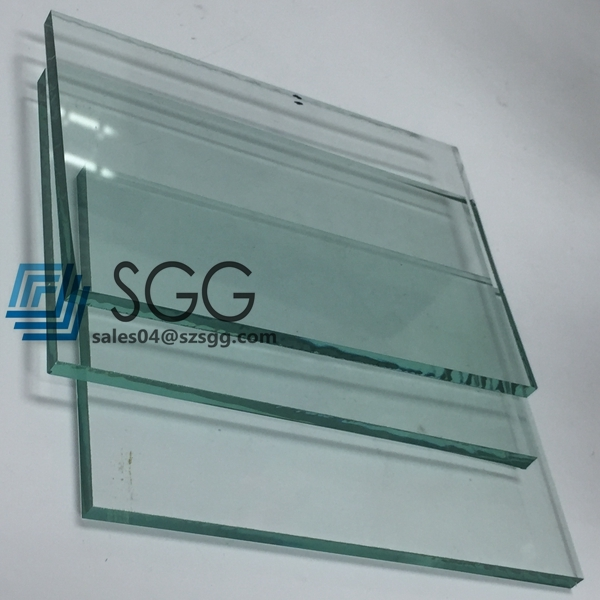 China clear float glass mm inch